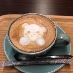 寄ったカフェのカフェラテ